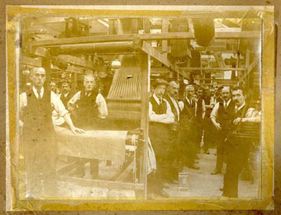 Copyright of Macclesfield Museums  Inside the weaving shed at the Macclesfield Silk Manufacturing Society mill at London Road in 1900