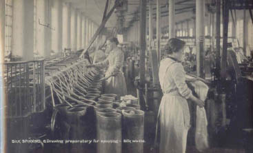 Copyright of Macclesfield Museums Drawing Silk, Macclesfield Silk Mill